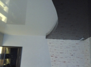 Натяжной потолок 2х цв.2уровневый глянец