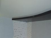 Натяжной потолок 2х цв. 2уровневый глянец