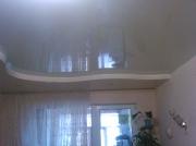Натяжные потолки 2х уровневые криволинейные