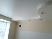 Натяжной потолок 2х уровн.глянец переход из ПВХ