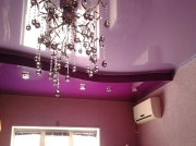 Натяжной потолок оттенки фиолетового в 2х уровнях