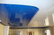 Натяжной потолок 2х уровневый сине-белый глянец, Вид2