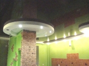 Натяжной потолок шоколад глянец