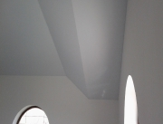 Натяжной потолок многоуровневый белый матовый