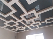 Натяжные потолки глянец графит