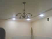Натяжной потолок двухуровневый разной формы