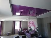 Натяжной потолок цвет темная фуксия
