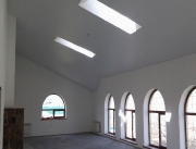 Натяжной потолок многоуровневый белый матовый, вид2