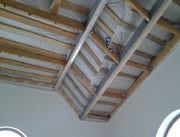 Натяжной потолок монтаж по секторам