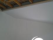 Натяжной потолок многоуровневый белый матовый мансарда