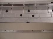 Натяжной потолок. Алюминивый профиль и крепление саморезами-основательный монтаж