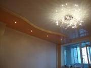 Натяжной потолок 2х уровневый