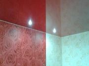 Натяжной потолок бордо глянец