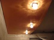 Натяжной потолок оранжевый глянец