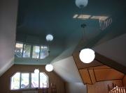 Натяжной потолок голубой глянцевый . Вид 2